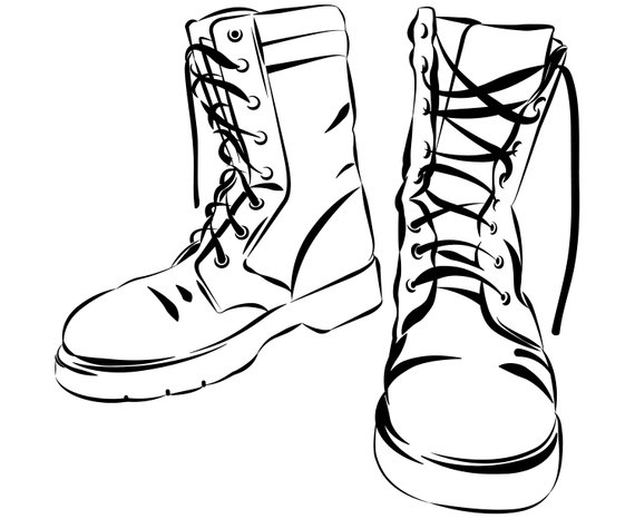 570x466 Combat Boots Combat Boots Army Military Lace Up Etsy