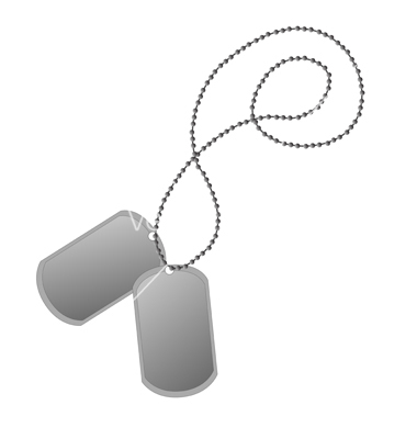 380x400 12 Military Dog Tag Vector Art Images