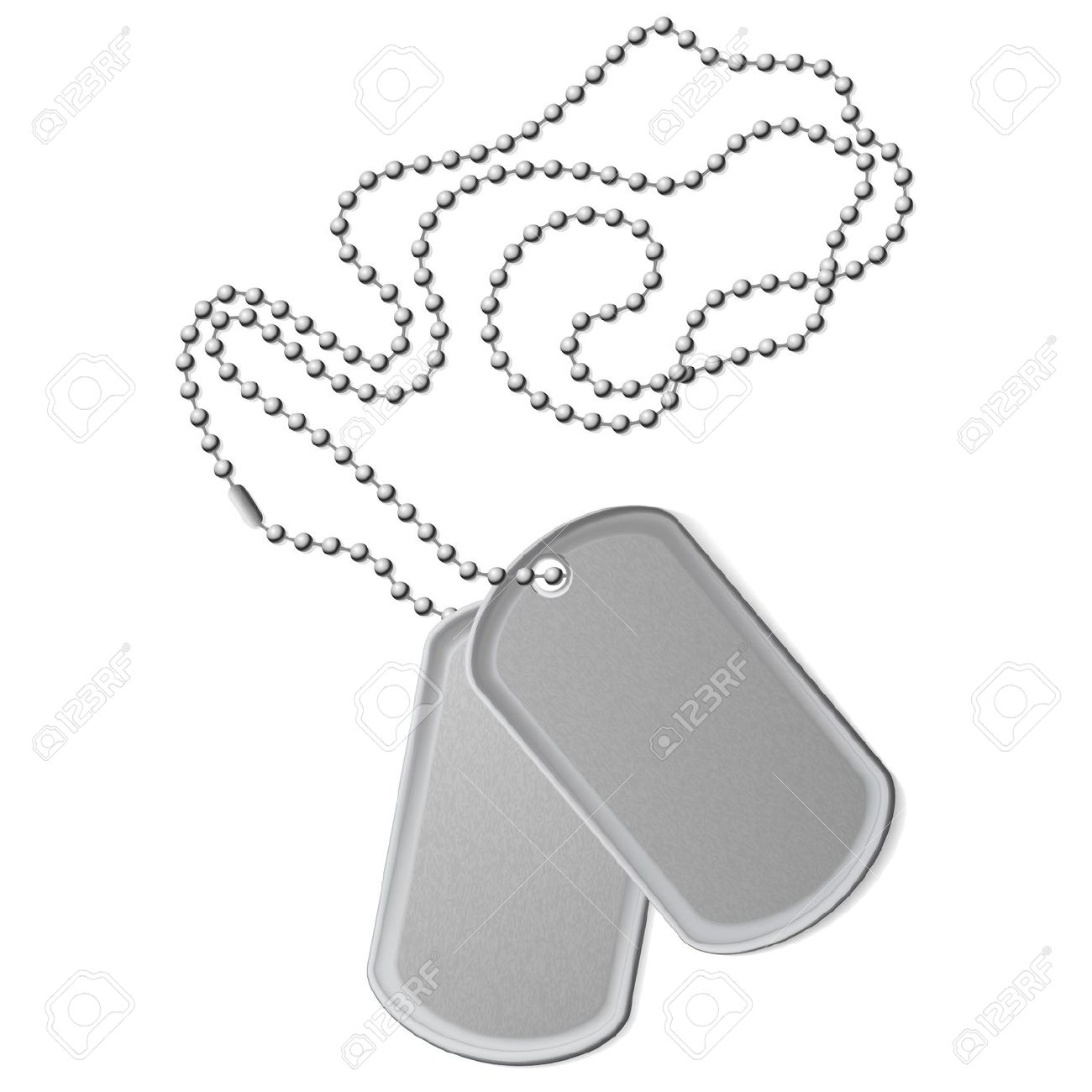 1300x1300 Dog Tags Army Clipart