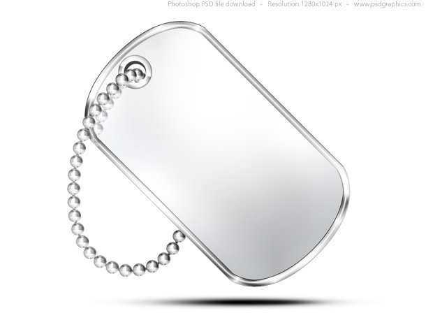610x458 Free Military Dog Tag, Psd Icon Psd Files, Vectors Amp Graphics
