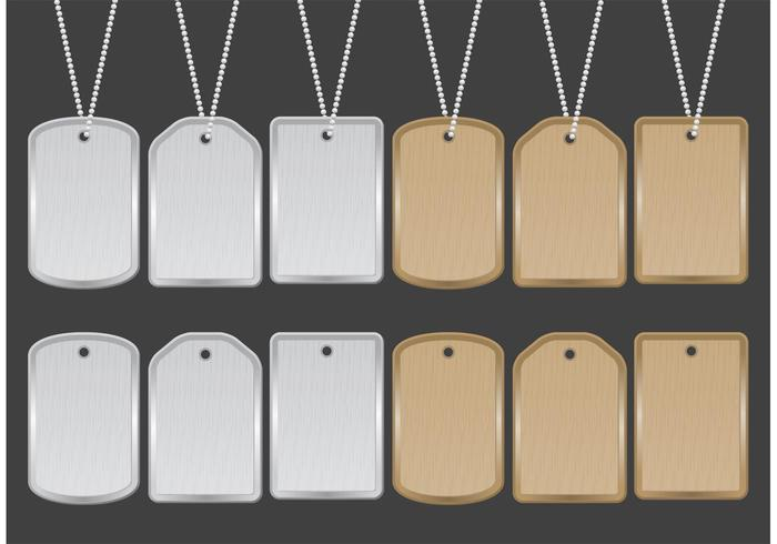 700x490 Military Dog Tags Free Vector Art