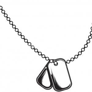 300x300 Photostock Vector Military Dog Tags Illustration Shopatcloth
