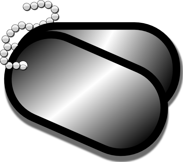 600x532 Army Dog Tag Vector Black And White