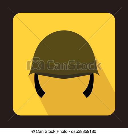 450x470 Military Helmet Icon, Flat Style. Military Helmet Icon In Flat