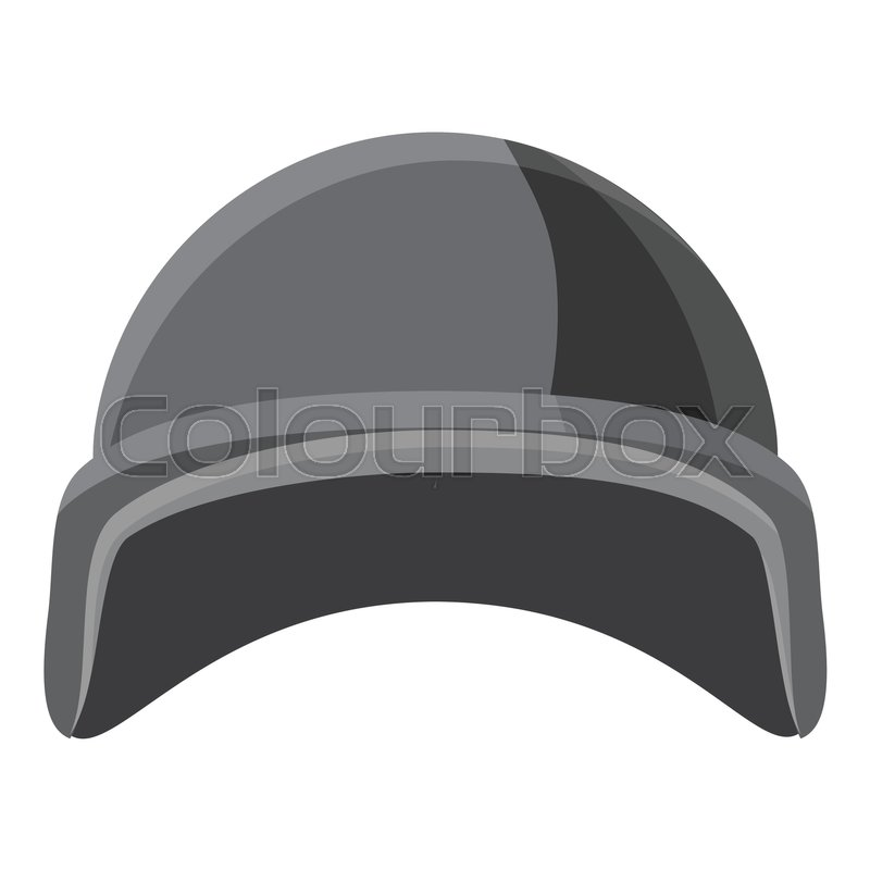 800x800 Military Helmet Icon. Gray Monochrome Illustration Of Military
