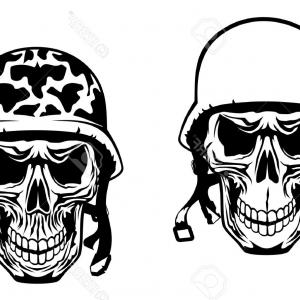 300x300 Skull In An Army Helmet Vector Orangiausa