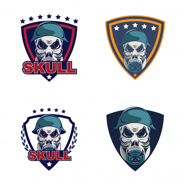 626x626 Skull In Military Helmet And Gas Mask Logo Vector Premium Download