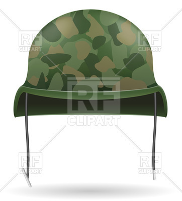 362x400 Camouflage Military Helmets Vector Image Vector Artwork Of