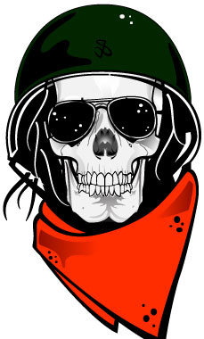 229x380 Skull With Military Helmet Vector Free Vector In Adobe Illustrator