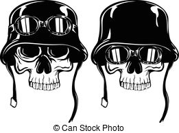 261x194 Human Skull With Military Helmet. . Human Skull With Military