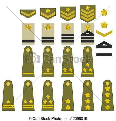 450x470 Japanese Army Insignia. Epaulets, Military Ranks And Insignia