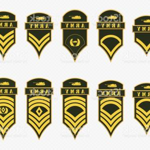 300x300 Military Ranks Stripes And Chevrons Vector Set Army Insignia Gm