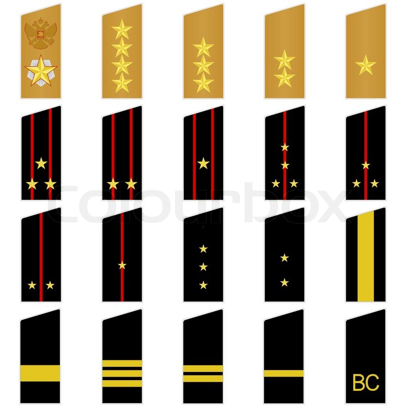 800x800 Military Epaulettes And Insignia Stock Vector Colourbox