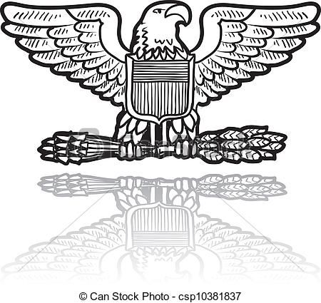 450x425 Clipart Vector Of Us Army Military Insignia