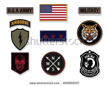 450x358 Military Logos Vector Graphics