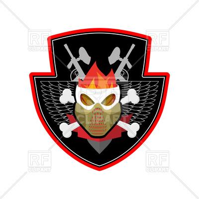 400x400 Military Emblem. Paintball. Vector Image Vector Artwork Of Sport