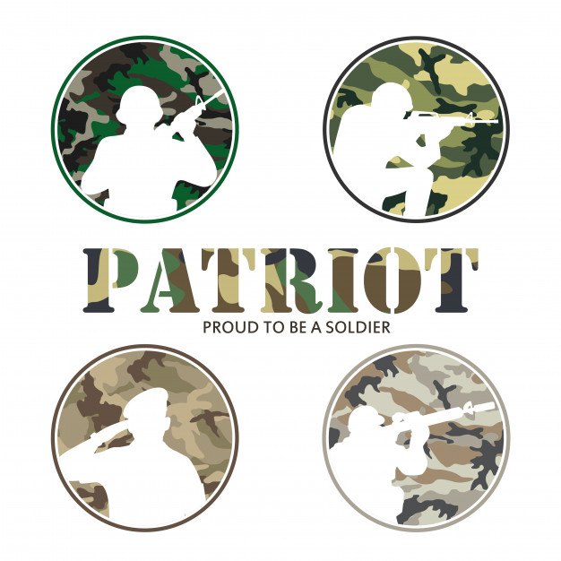 626x626 Partriot Army Amp Soldier Military Logo Vector Premium Download
