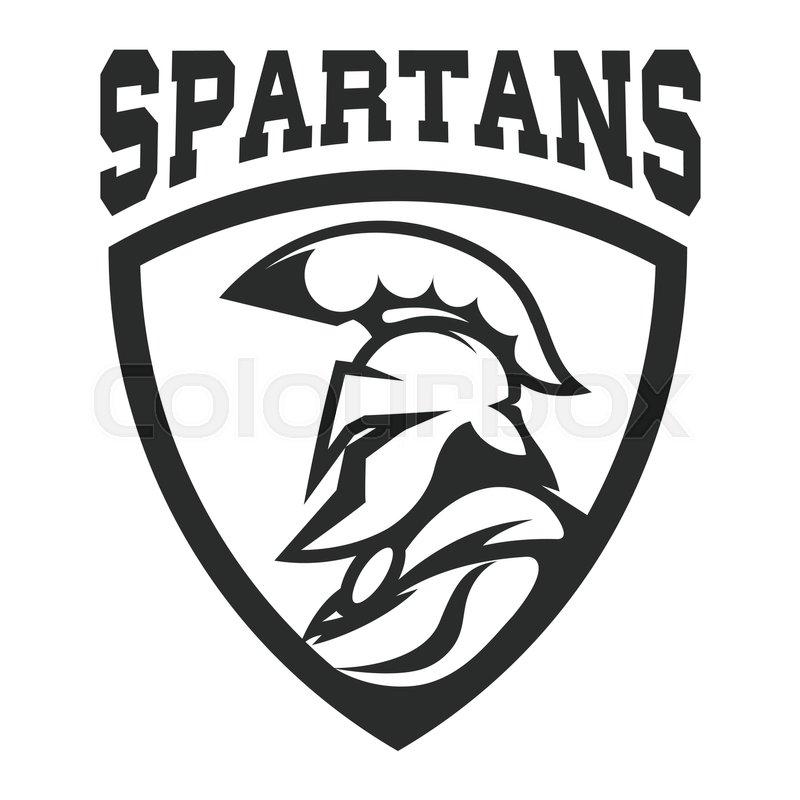800x800 Spartan Helmet. Military Emblem. Design Element For Logo, Label