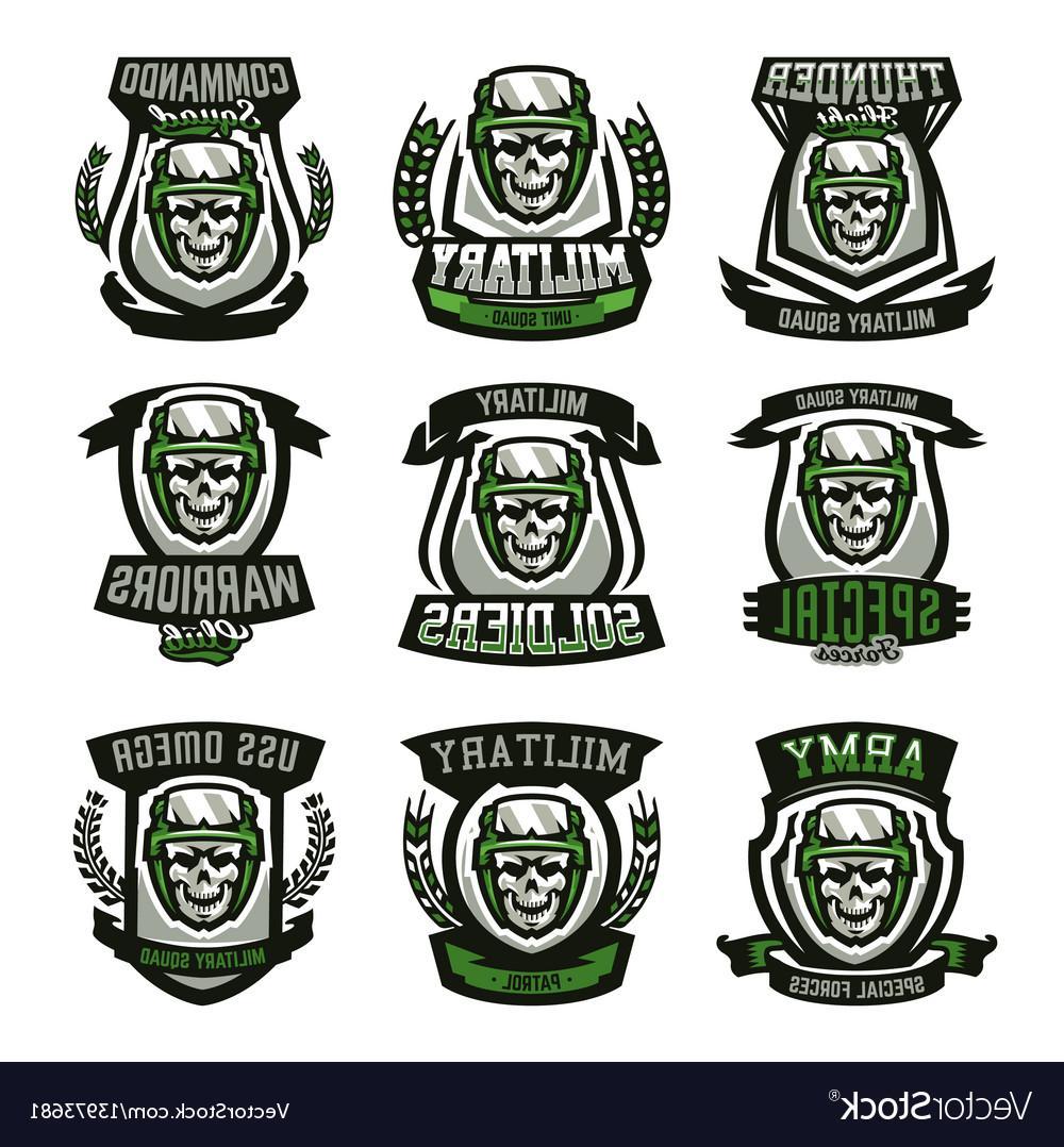 1000x1078 Top 10 Set Of Military Logos Emblems Skull Helmet Vector File Free