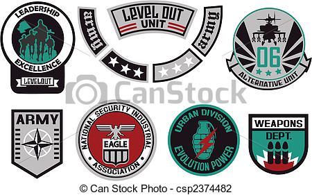 450x281 Emblem Shield Military Badge Logo Vector Illustration Search