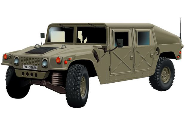 622x407 Military Hummer Design Vector Graphic Download 4 X 4