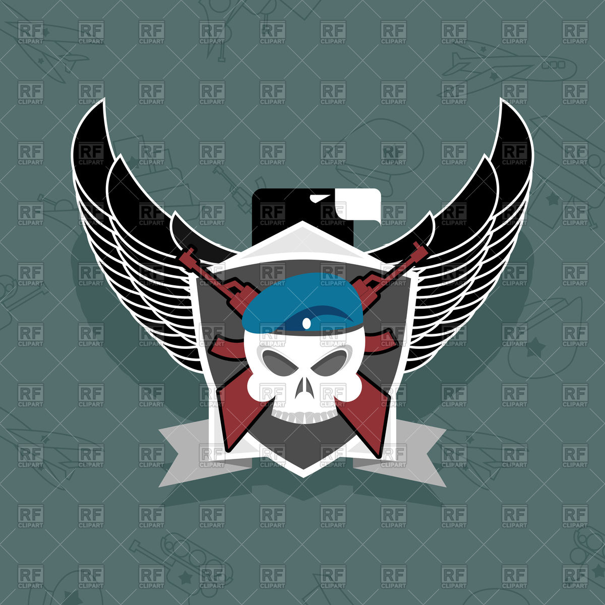 1200x1200 Military Eagle Logo Vector Image Vector Artwork Of Icons And