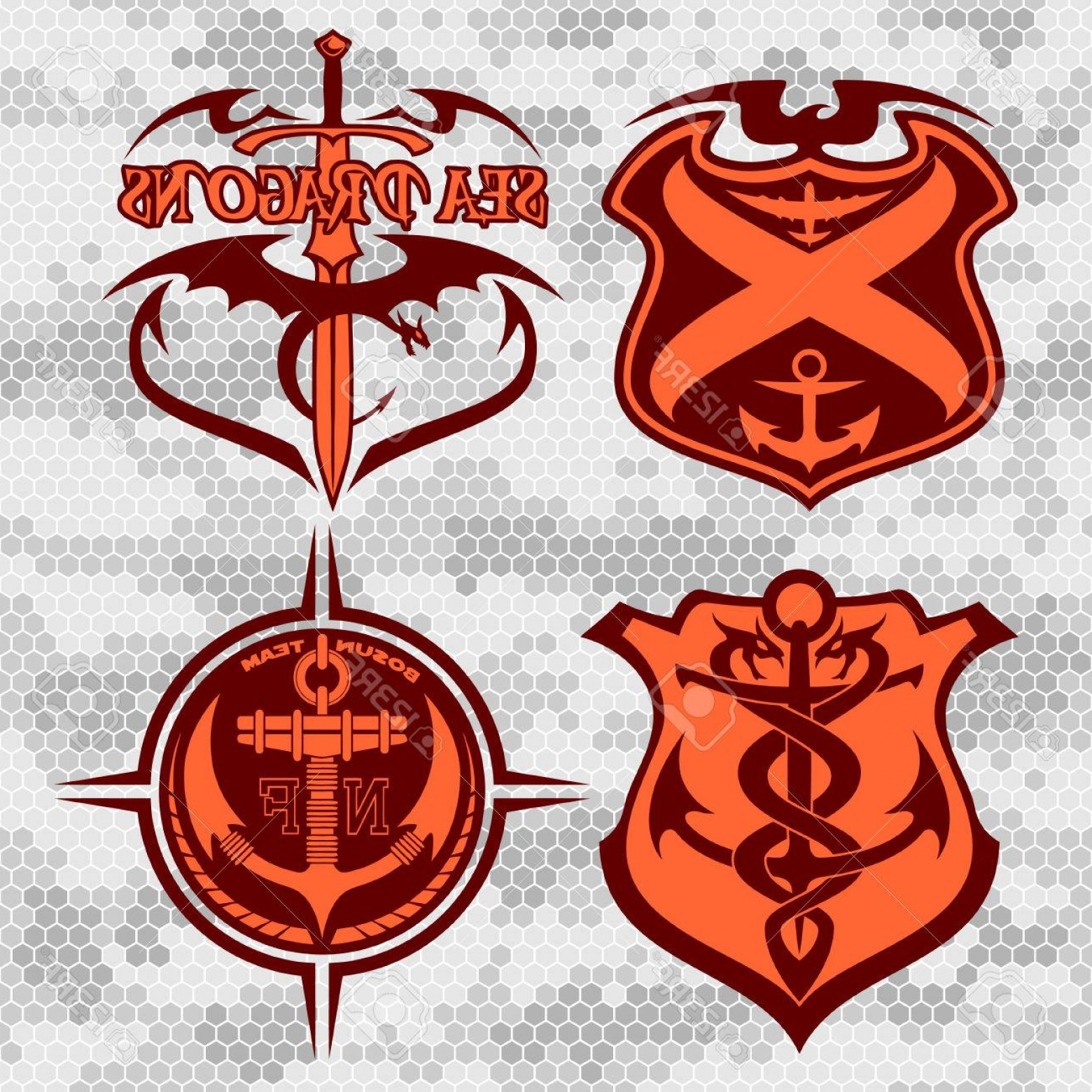 1560x1560 Photostock Vector Navy Military Patches And Badges Vector Set