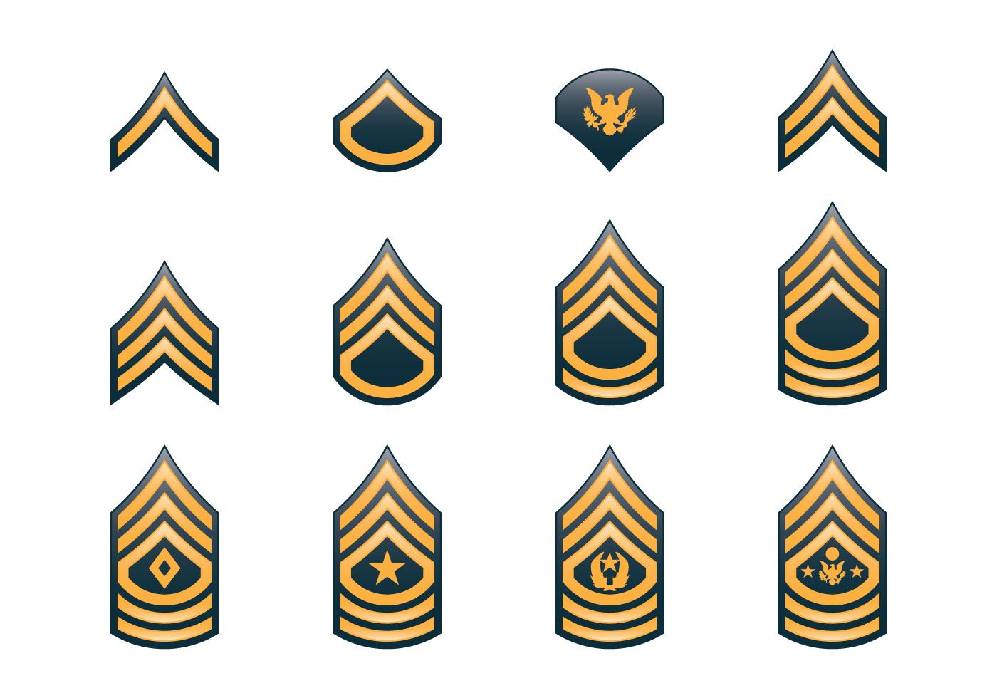 1400x980 Army Rank Insignia