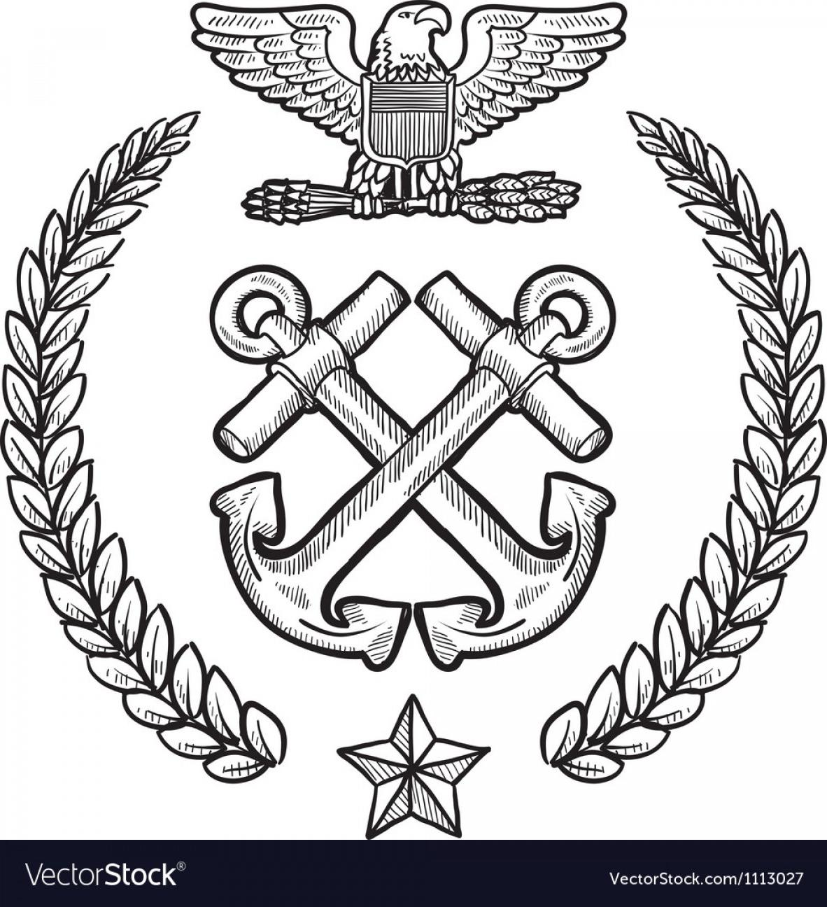1182x1296 Best 15 Doodle Us Military Wreath Navy Vector Images