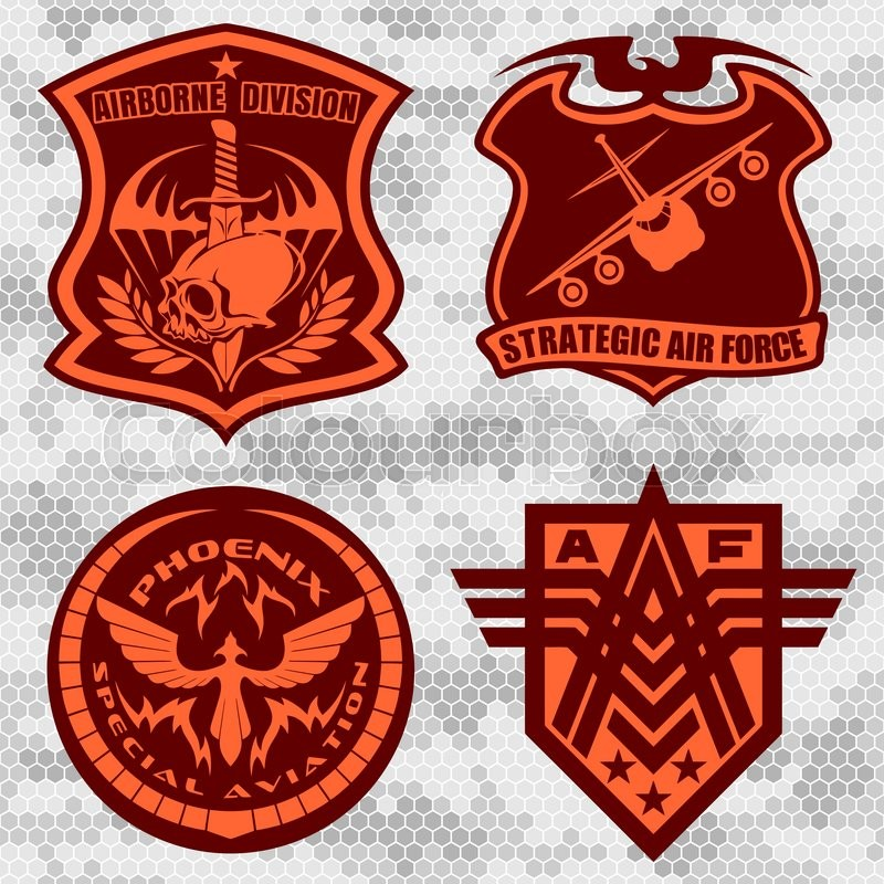 800x800 Military Airforce Patch Set