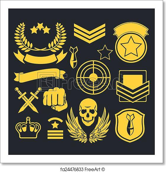 561x581 Free Art Print Of Special Unit Military Patch. Special Forces