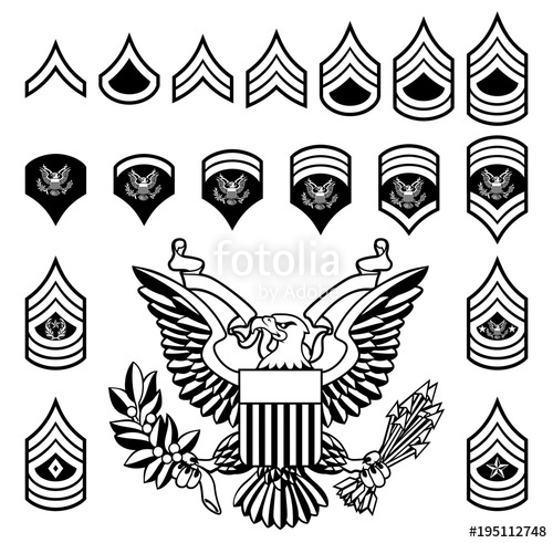 500x491 Army Military Rank Insignia Stock Image And Royalty Free Vector