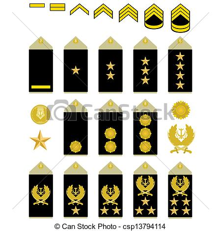 450x470 Insignia Of The Iranian Army. Military Ranks And Insignia Of The