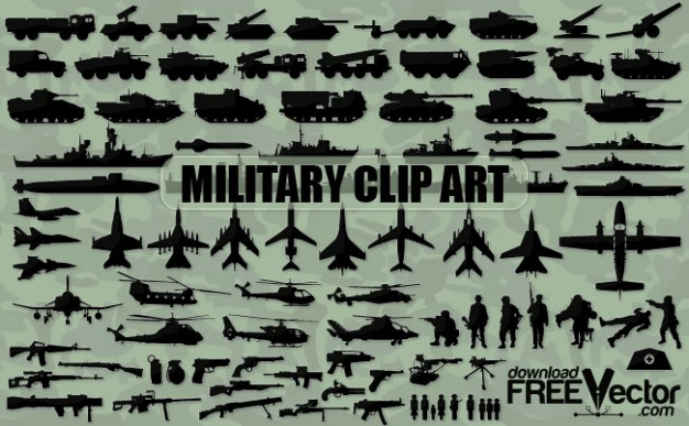 626x387 Military Clip Art Silhouettes Vector Free Download