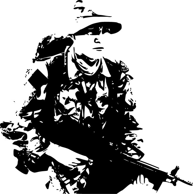 668x673 Modern Soldiers And Weaponry Vectors