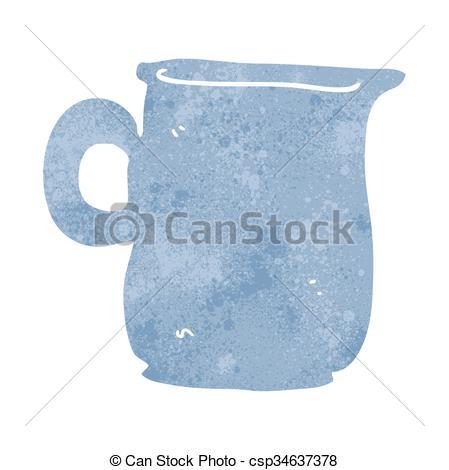 449x470 Freehand Retro Cartoon Milk Jug Vectors Illustration