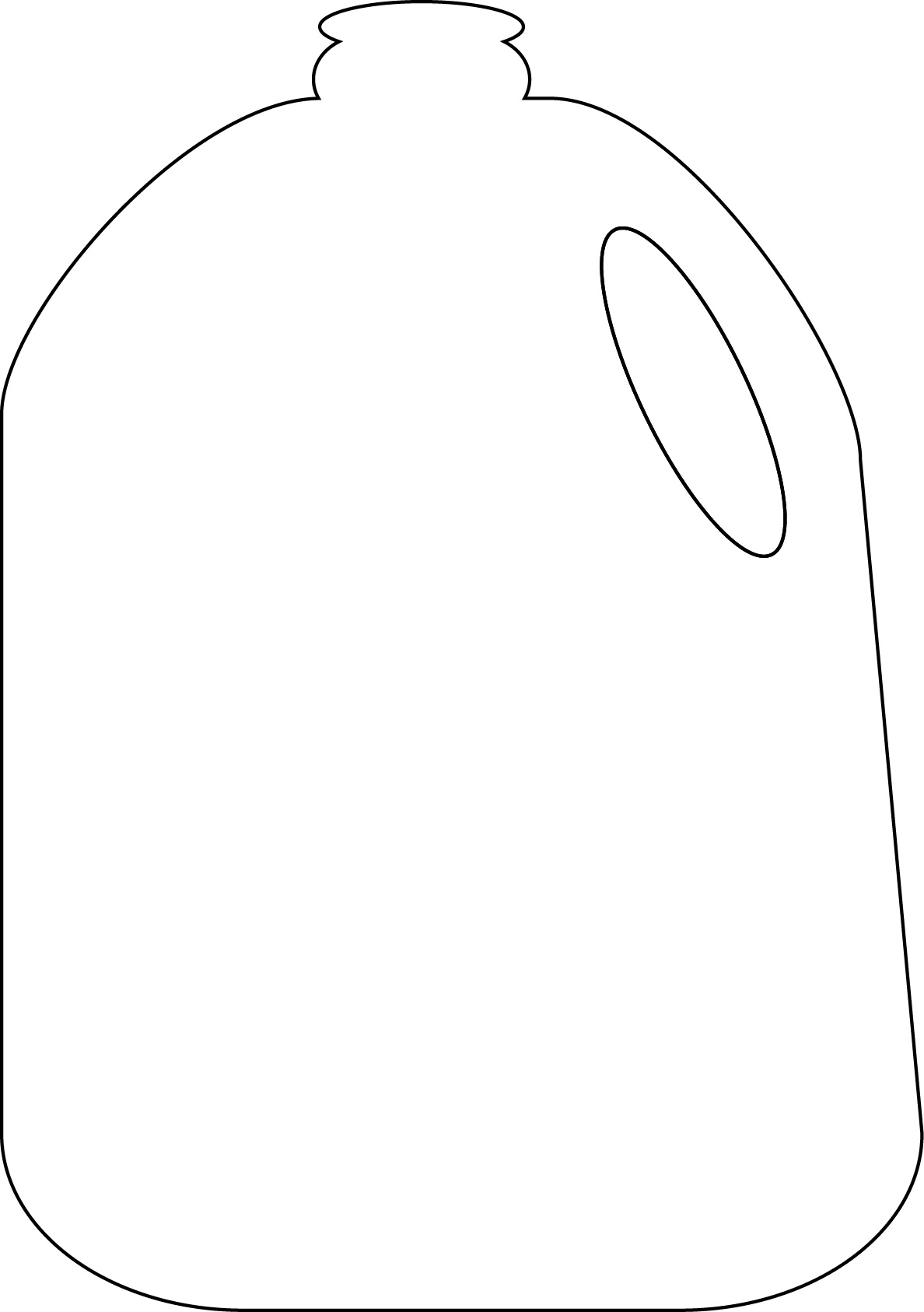 1188x1686 Gallon Milk Jug Clipart
