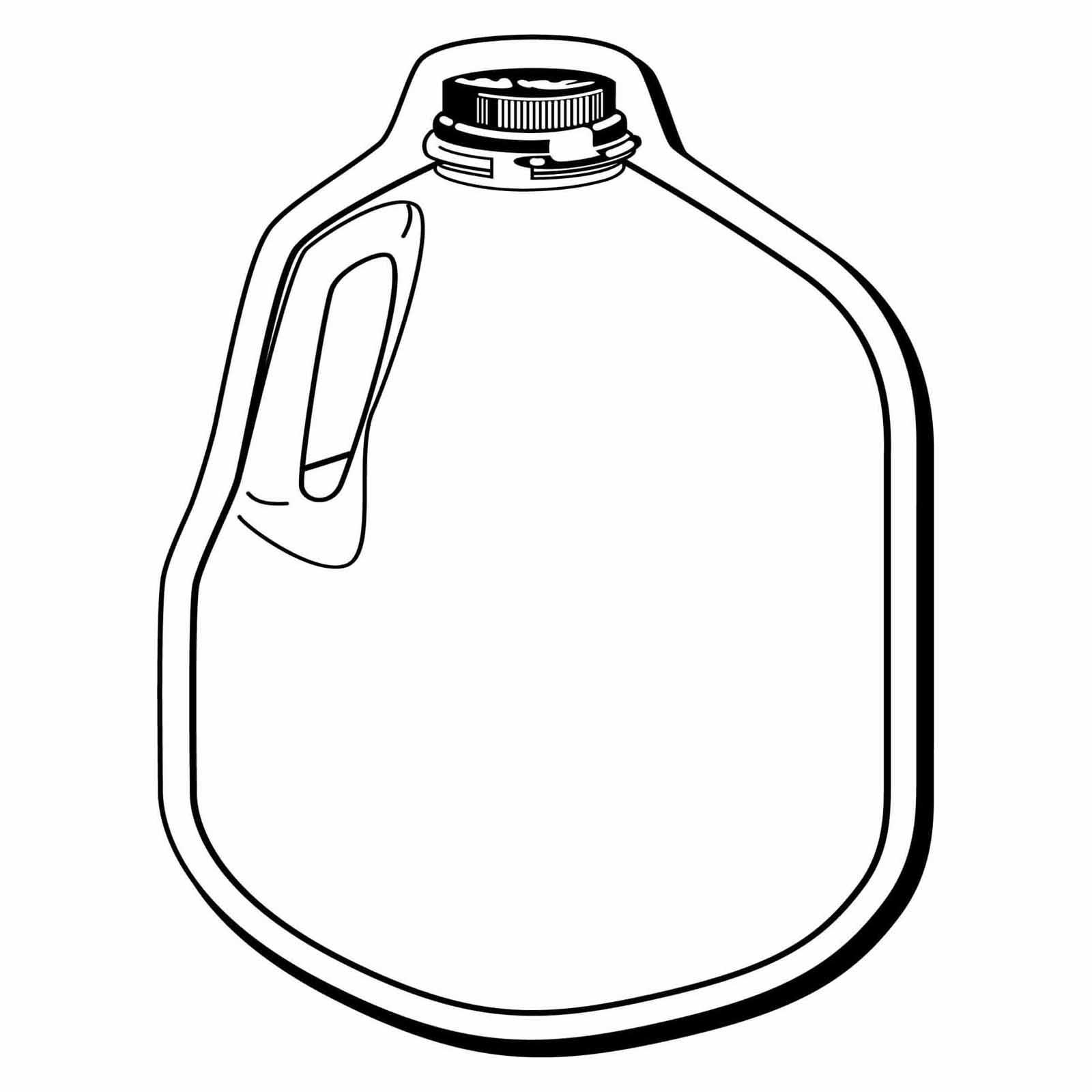 1600x1600 Milk Jug Clipart Sketch