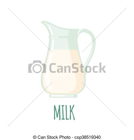 450x470 Milk Jug Icon In Flat Style Isolated On White Background. Vector
