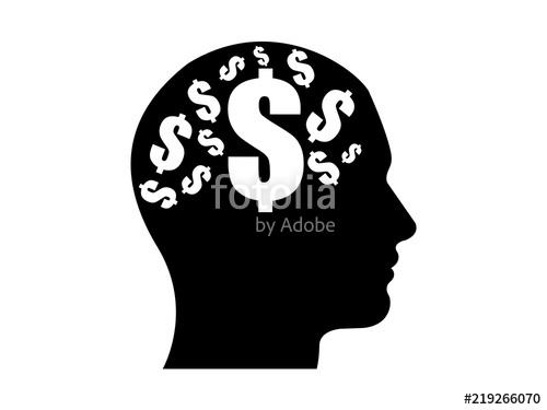 500x375 Person Silhouette With Money On The Mind Vector Stock Image And