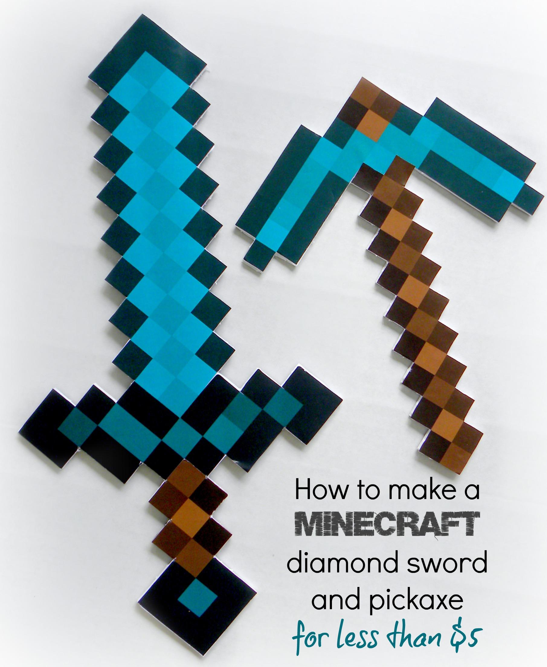 1811x2206 How To Make A Minecraft Diamond Sword And Diamond Pickaxe