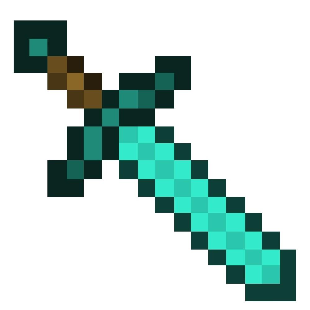 1000x1000 Minecraft Diamond Sword Transparent Background Stuning
