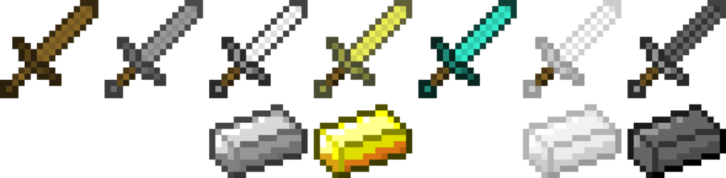 1024x252 Minecraft Swords By Kriss80858