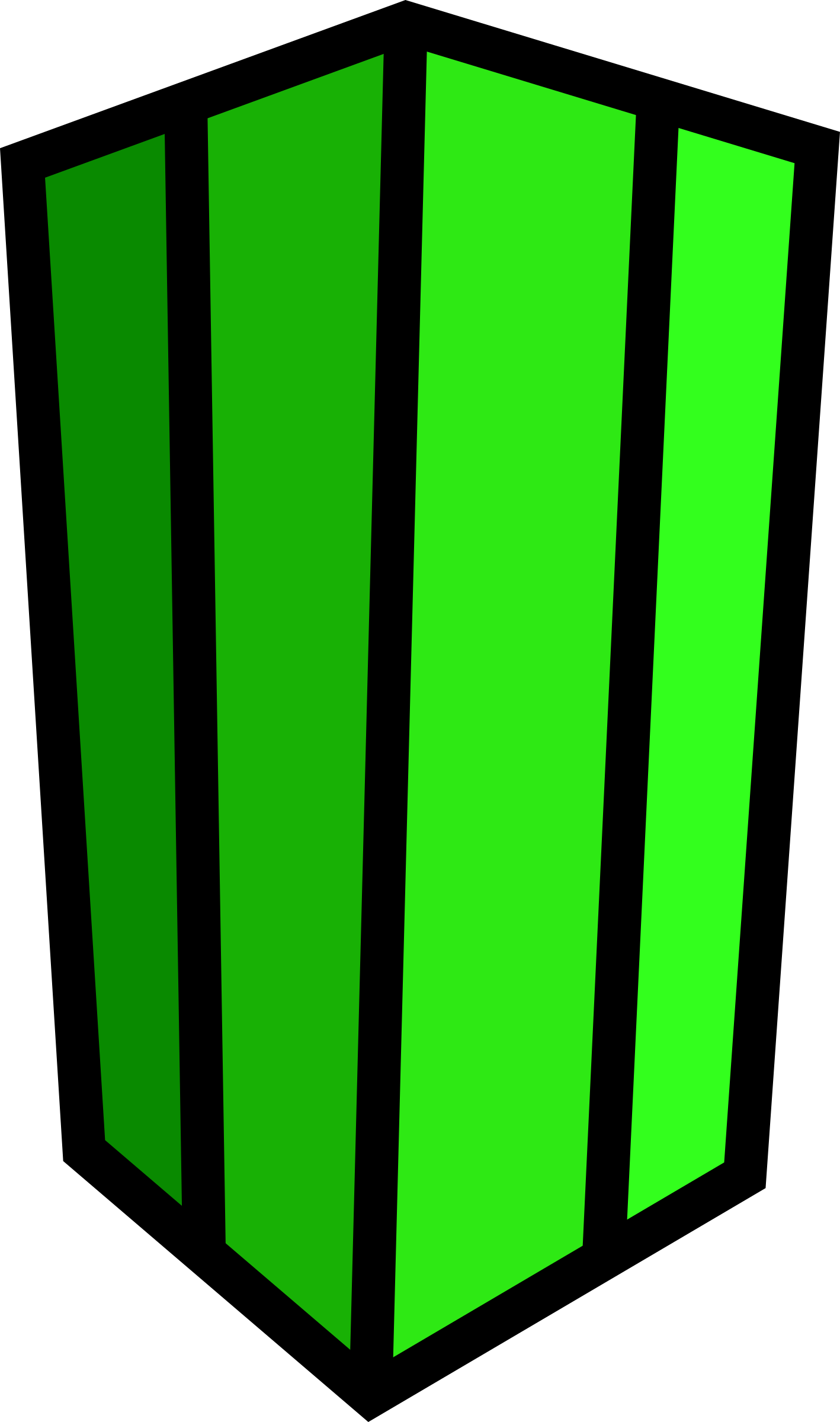 1418x2400 Minecraft Cactus Vector Clipart Image