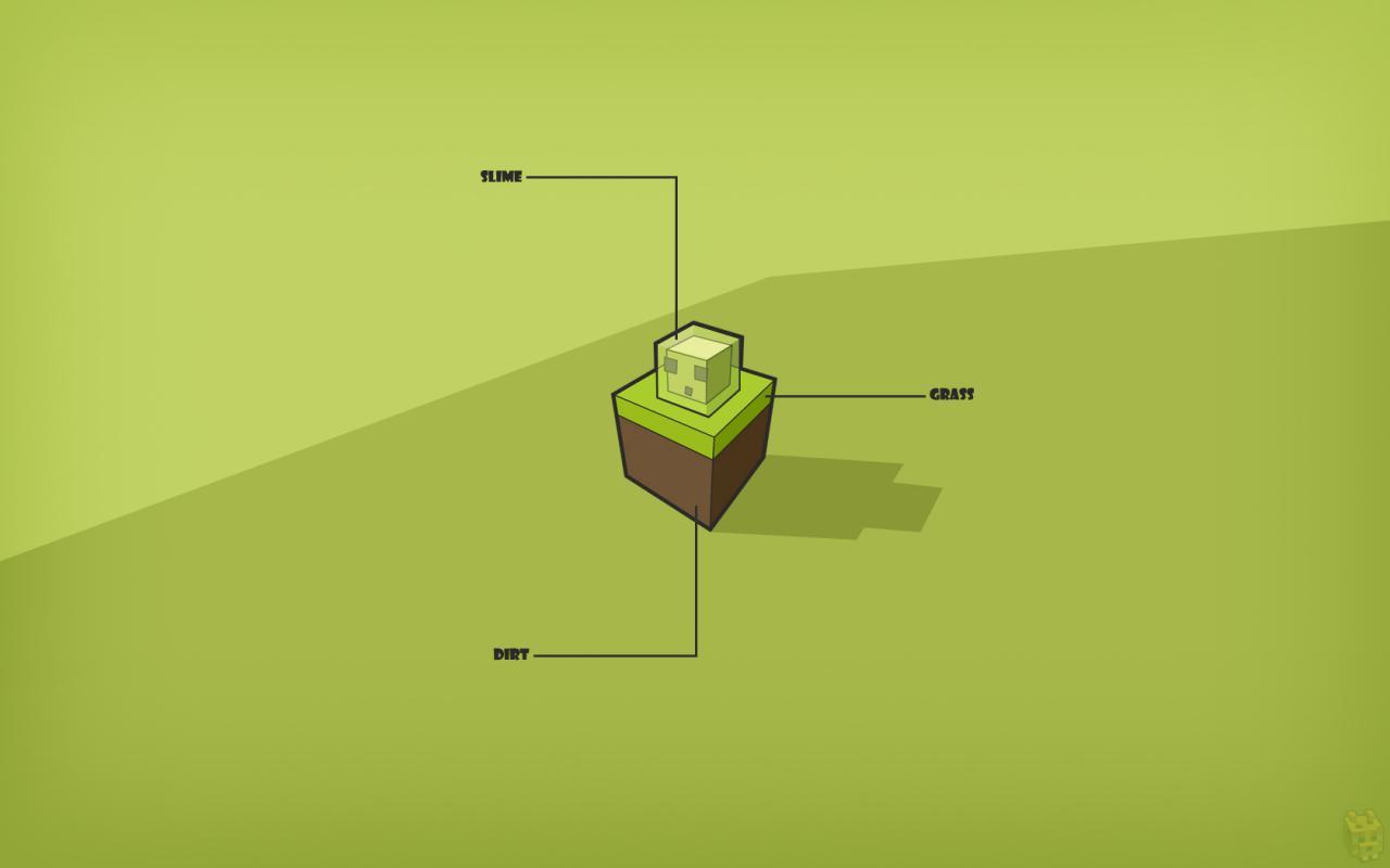 1280x800 Minecraft Slime
