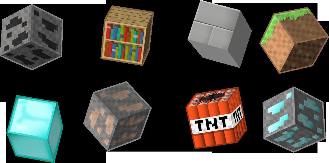 1144x569 Minecraft Vector Blocks And Creeper Boomrocker
