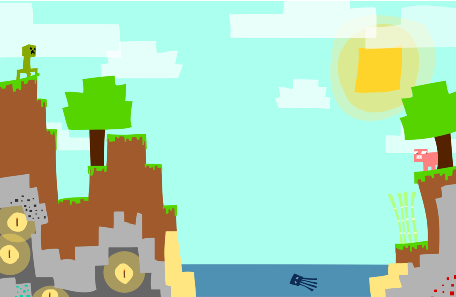 900x586 Minecraft Vector By Laggycreations