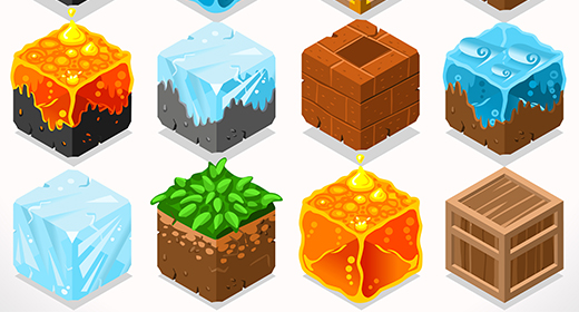 520x280 Cube Blocks 3d Vector Images Like Lego Minecraft But Not On