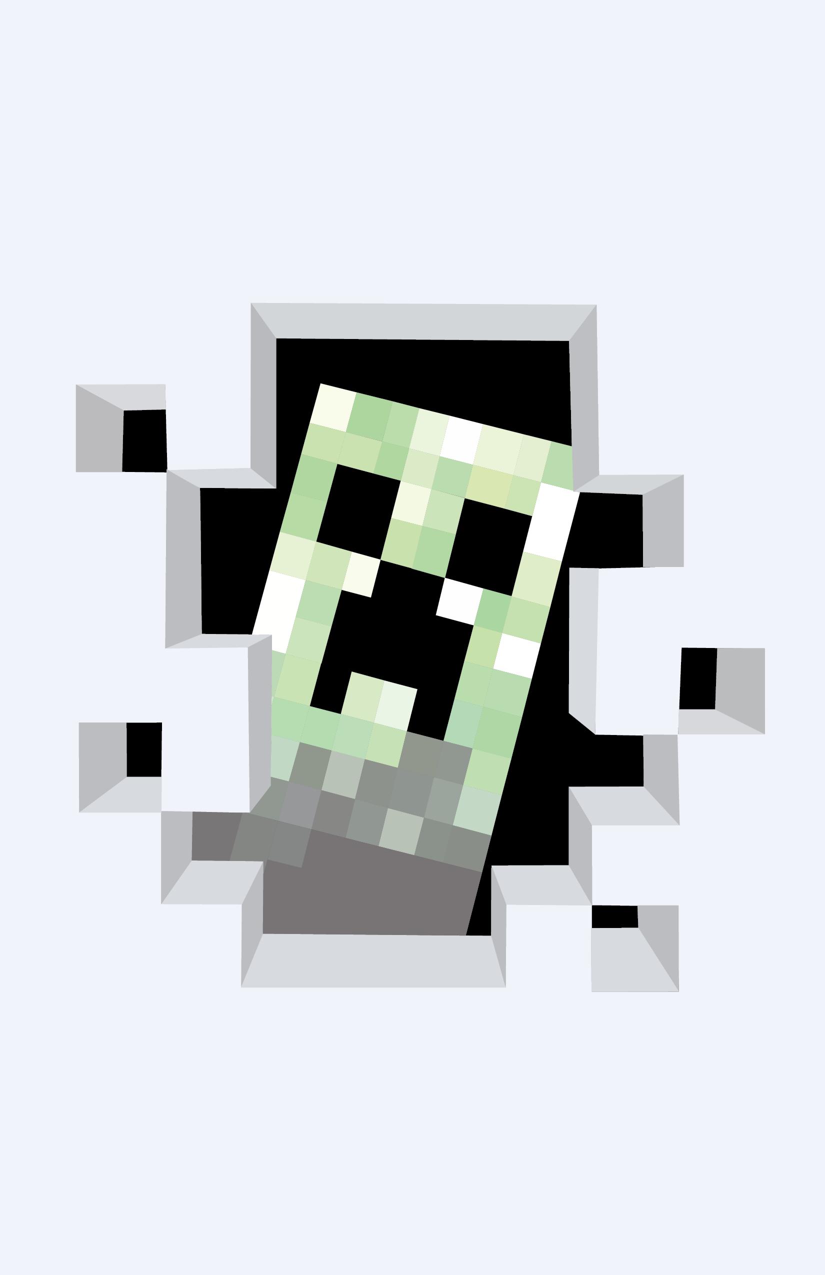 1650x2550 Minecraft Creeper By Whitekidz