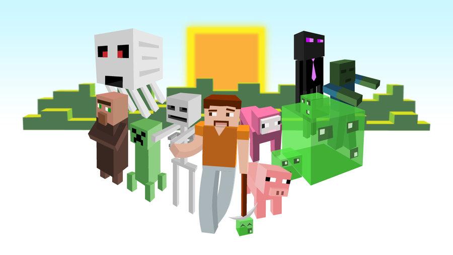 900x506 Minecraft Poster By Qrellyoriginal